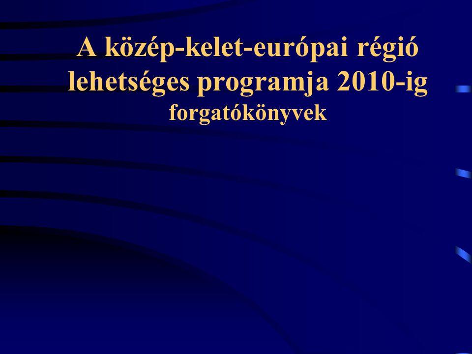 A közép-kelet-európai régió lehetséges programja 2010-ig forgatókönyvek