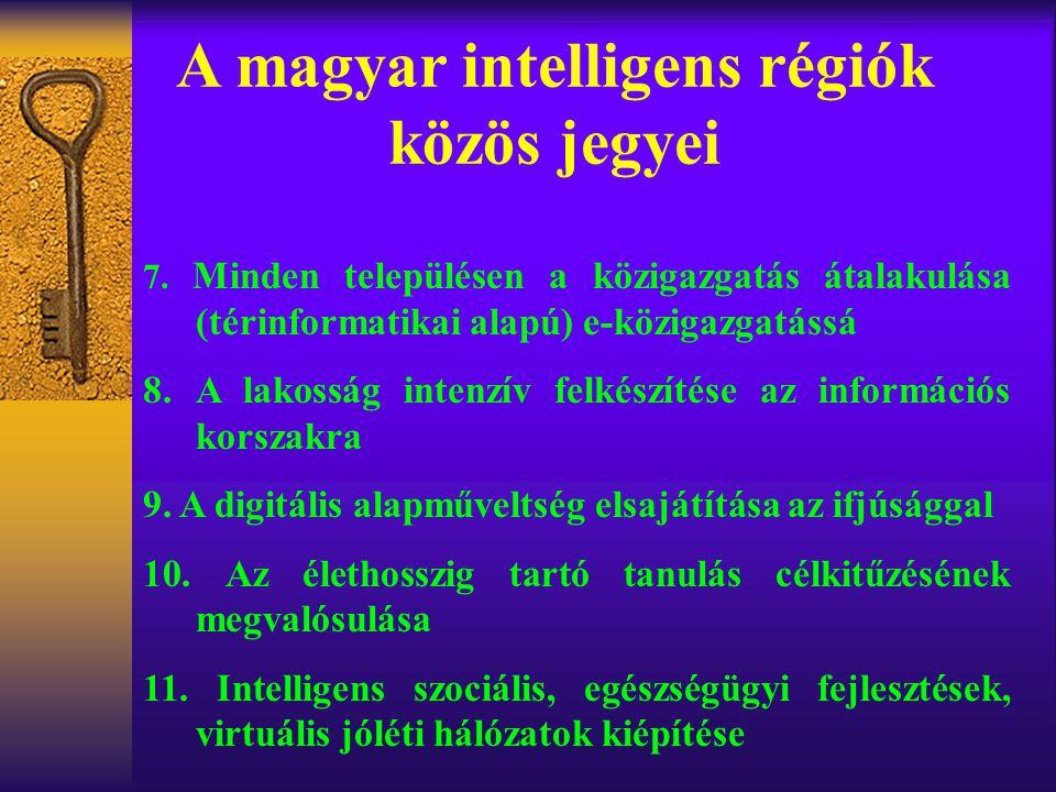 A magyar intelligens régiók közös jegyei 7.