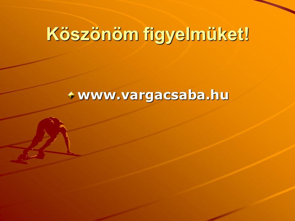 Köszönöm figyelmüket! www.vargacsaba.hu