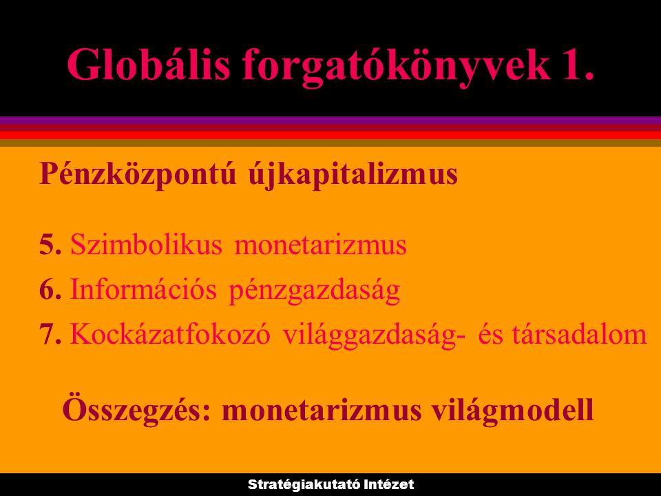 Globális forgatókönyvek 1. 1. Globális gazdaság, transznacionális vállalatok 2. A világgazdaság új irányítási rendszere 3. Tartósan szabályozatlan mon