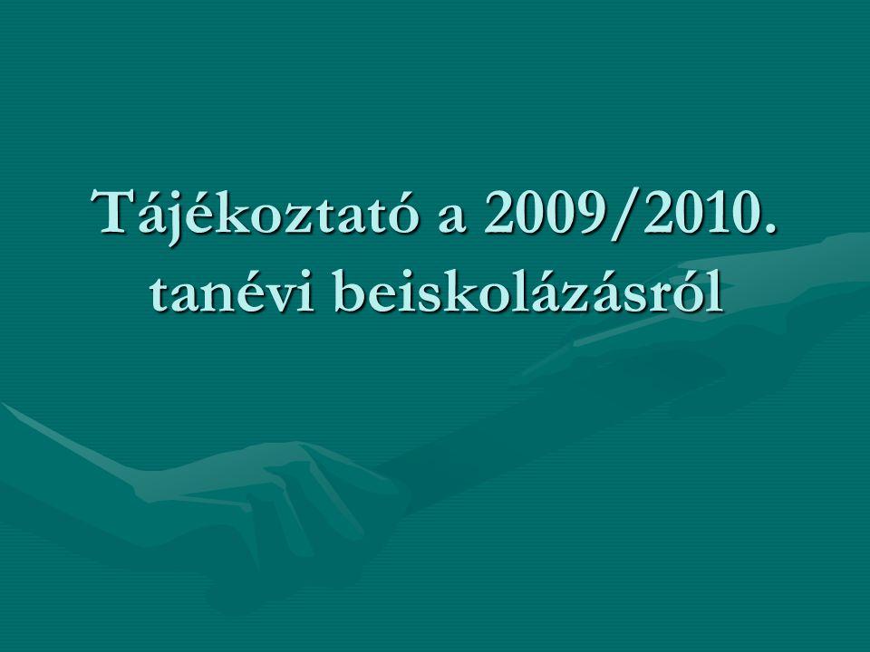 Az eredmények közzététele, a felvételi eljárás meneti Az írásbeli vizsga eredményéről a vizsgát szervező középiskola 2009.