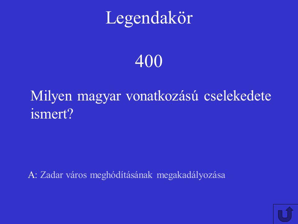 Legendakör 300 A: vizenjárók,vízi molnárok és hajósok Kiknek a patrónusa?