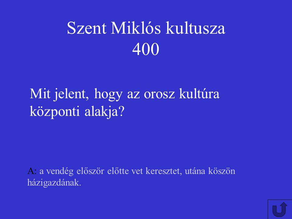 Szent Miklós kultusza 300 A: településnevek, templomok Milyen földrajzi vonatkoztatása van Magyarországon Szent Miklós kultuszának?