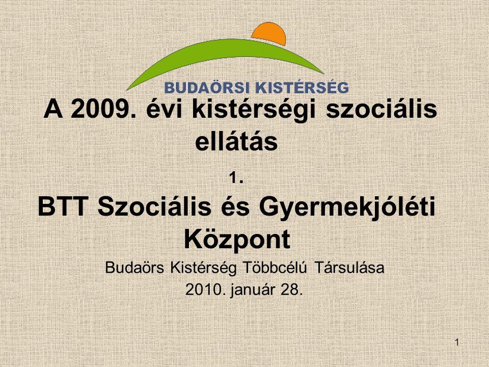1 A 2009. évi kistérségi szociális ellátás 1.
