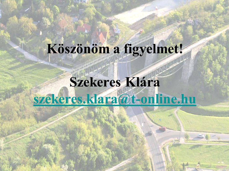 Köszönöm a figyelmet! Szekeres Klára szekeres.klara@t-online.hu szekeres.klara@t-online.hu