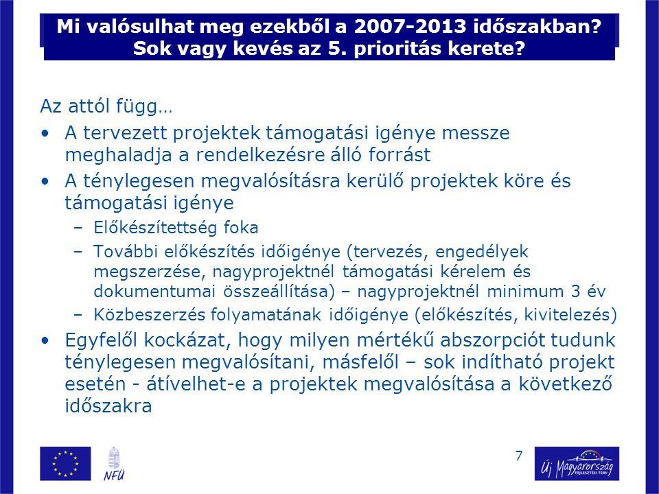 7 Mi valósulhat meg ezekből a 2007-2013 időszakban.