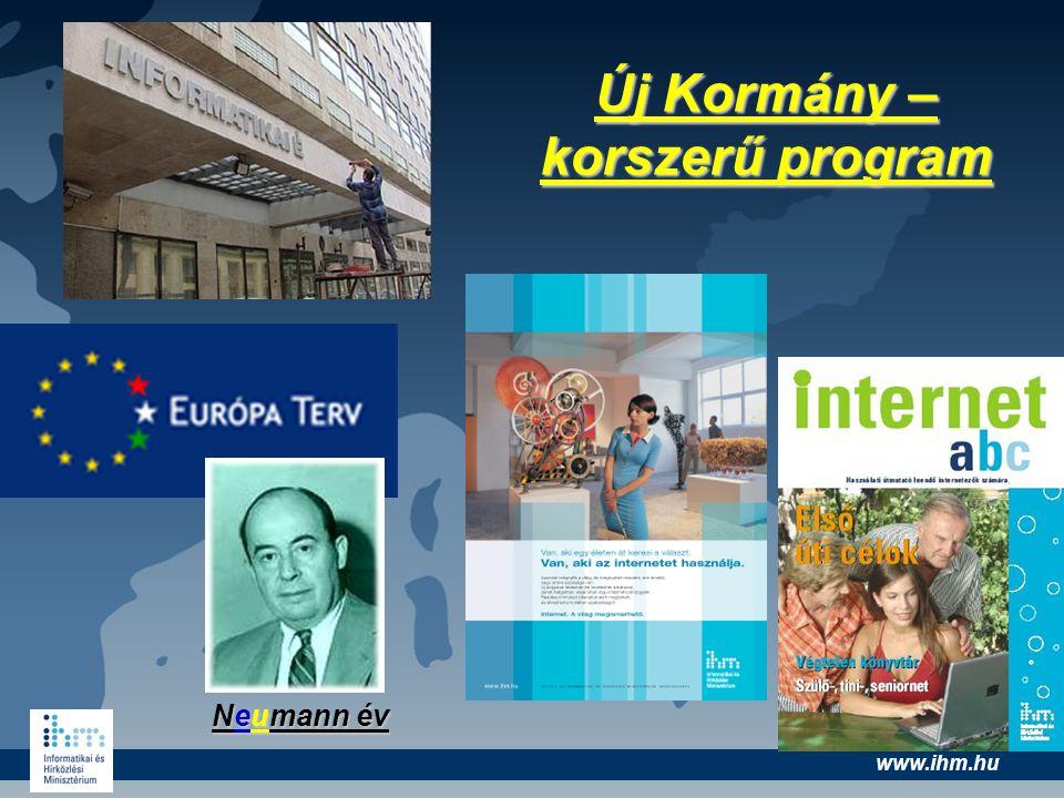 www.ihm.hu Új Kormány – korszerű program Neumann év