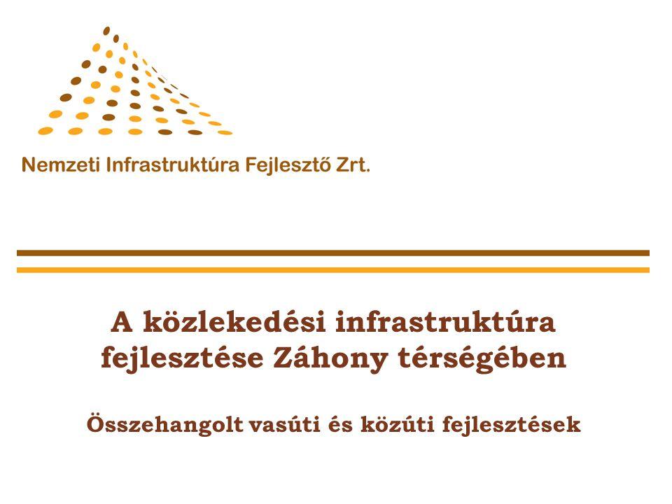 A közlekedési infrastruktúra fejlesztése Záhony térségében Összehangolt vasúti és közúti fejlesztések