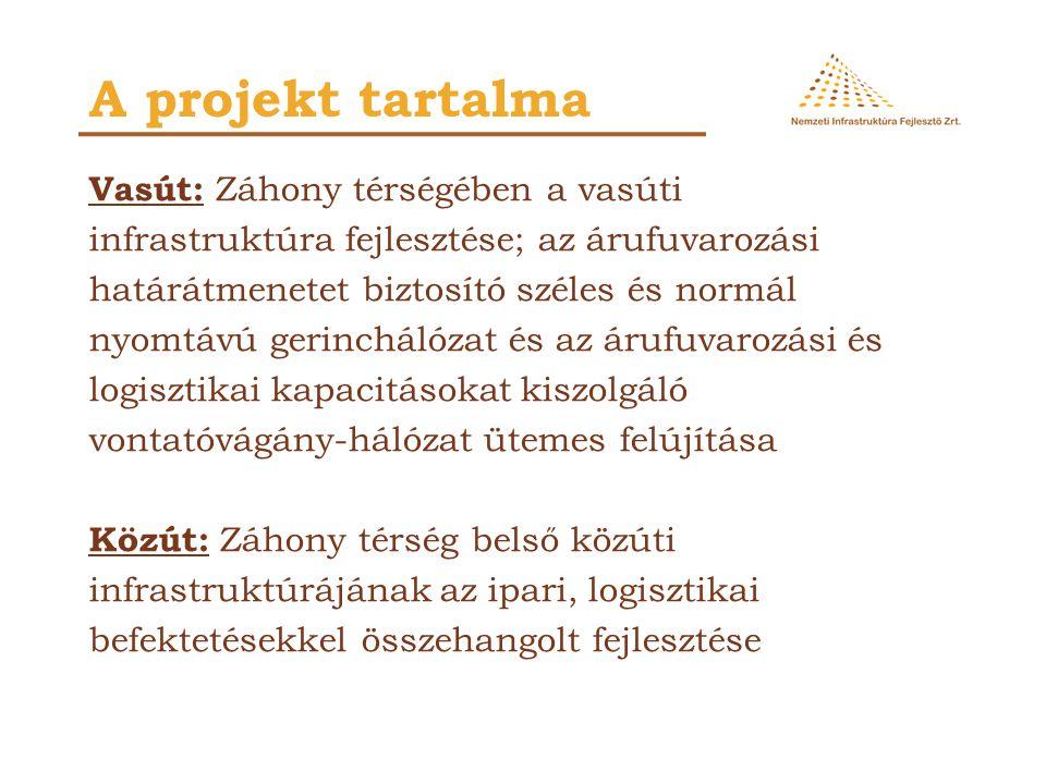 A Záhonyi Logisztikai Körzet áruforgalma 2015-ben az alábbiak szerint alakul (KTI 2007): A fejlesztés szükségessége Forgalom generálója Áruforgalom (millió tonna) A jelenlegi logisztikai terület evolúciós fejlődése 3,5 Távol-Keletről vonzott vasúti forgalom* 2,5 Lemezhengermű 1,5 Gépkocsitelep 0,2 Tranzit megállítása 0,2 Összesen 7,6