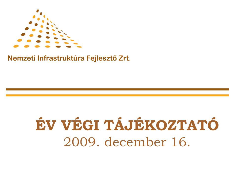 ÉV VÉGI TÁJÉKOZTATÓ 2009. december 16.