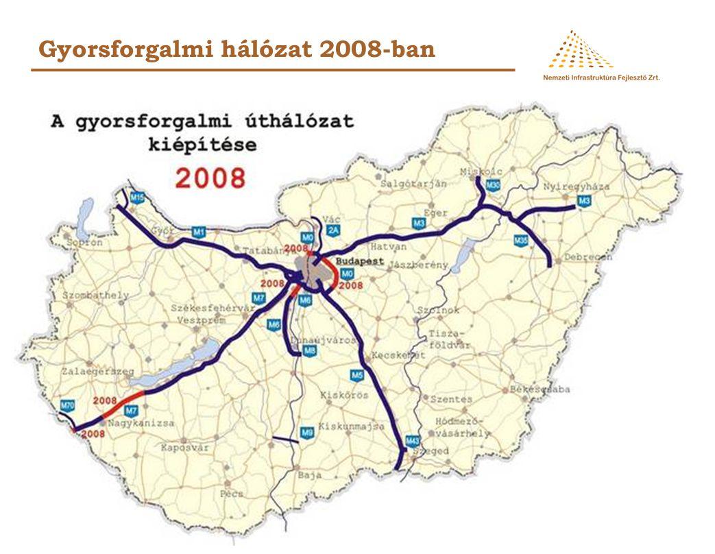 Közutas beruházások - 2009-ben tervezett szerződések 62.
