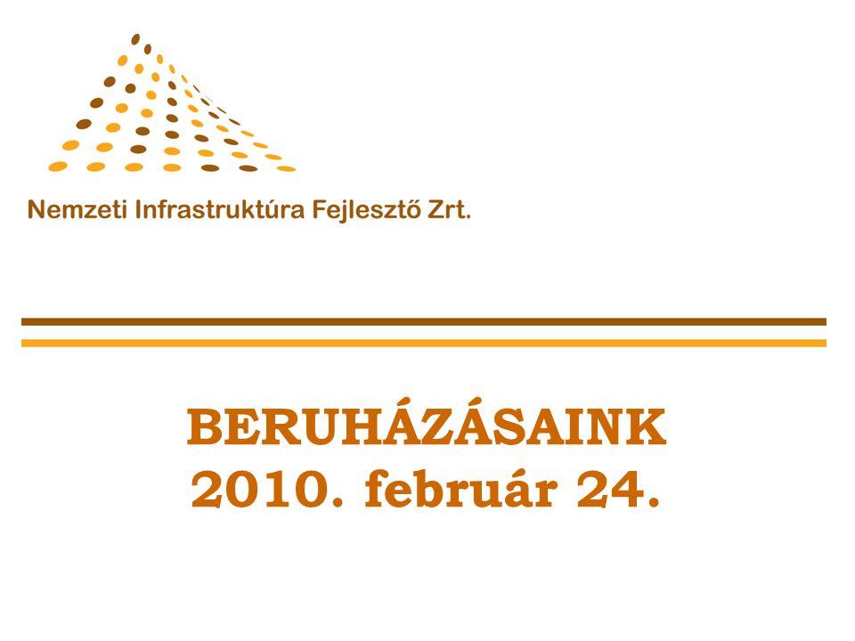 31 Közúti Igazgatóság Projekt megnevezéseHossz (km) Beruházás bruttó költsége (Mrd Ft) 2010.