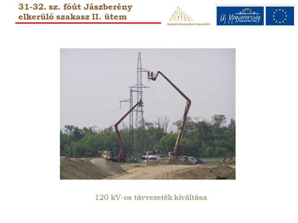 120 kV-os távvezeték kiváltása 31-32. sz. főút Jászberény elkerülő szakasz II. ütem