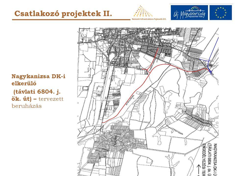 Csatlakozó projektek II. Nagykanizsa DK-i elkerülő (távlati 6804. j. ök. út) – tervezett beruházás
