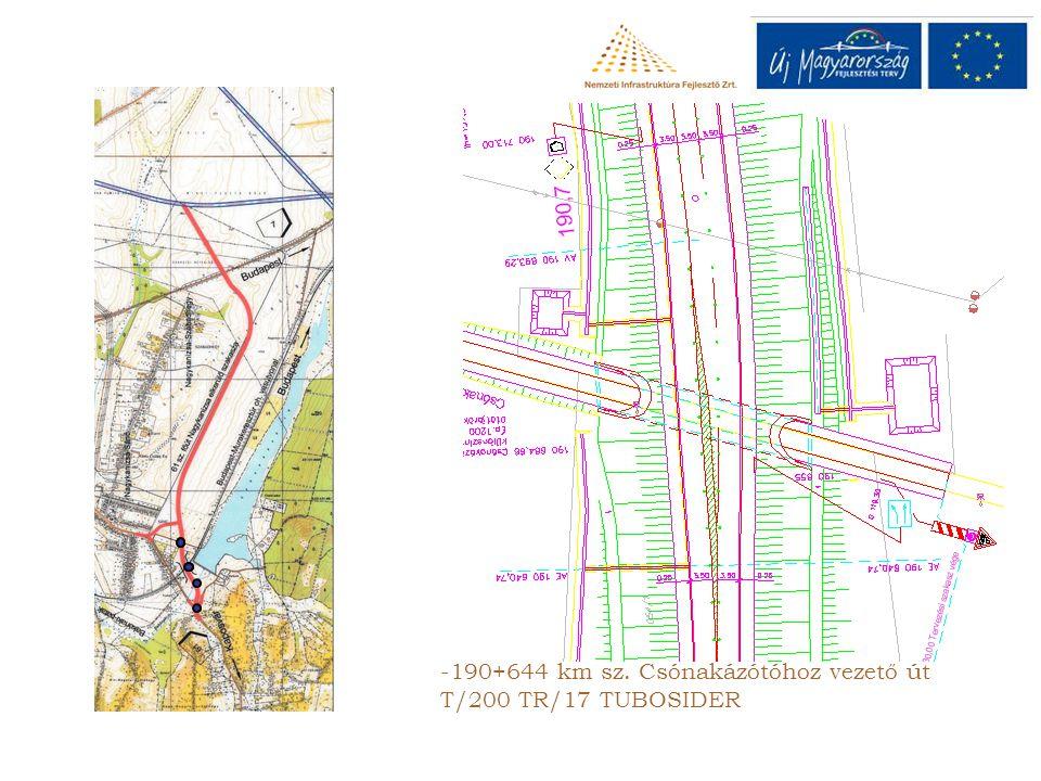 -190+644 km sz. Csónakázótóhoz vezető út T/200 TR/17 TUBOSIDER