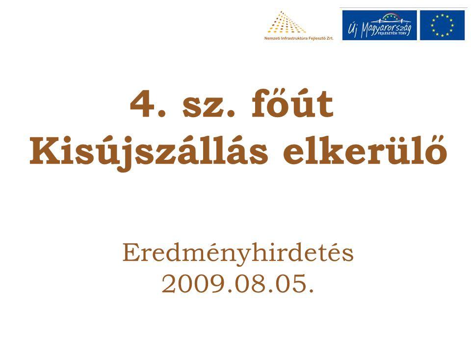 4. sz. főút Kisújszállás elkerülő Eredményhirdetés 2009.08.05.