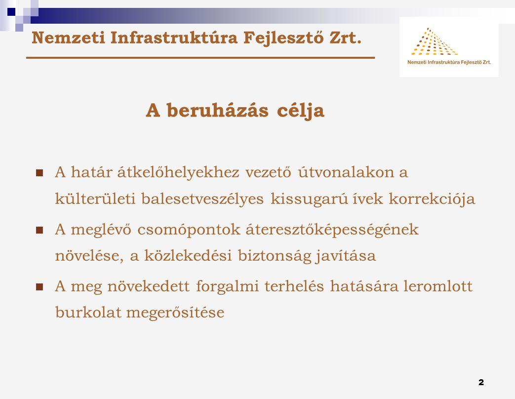 1 Lakossági fórum A Lónya-Barabás határátkelő-helyekhez vezető utak korszerűsítési munkái II.