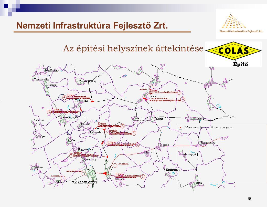 4 Nemzeti Infrastruktúra Fejlesztő Zrt. A kivitelezésre kerülő projektelemek 1.41.