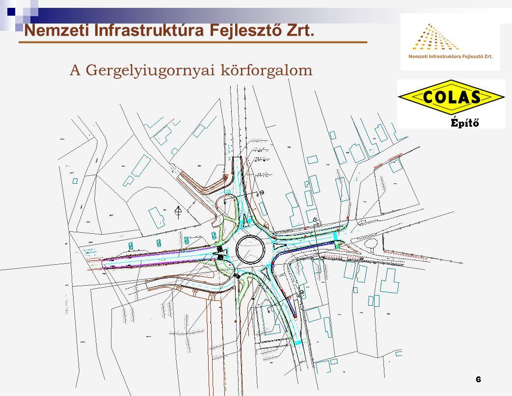 5 Nemzeti Infrastruktúra Fejlesztő Zrt. Az építési helyszínek áttekintése