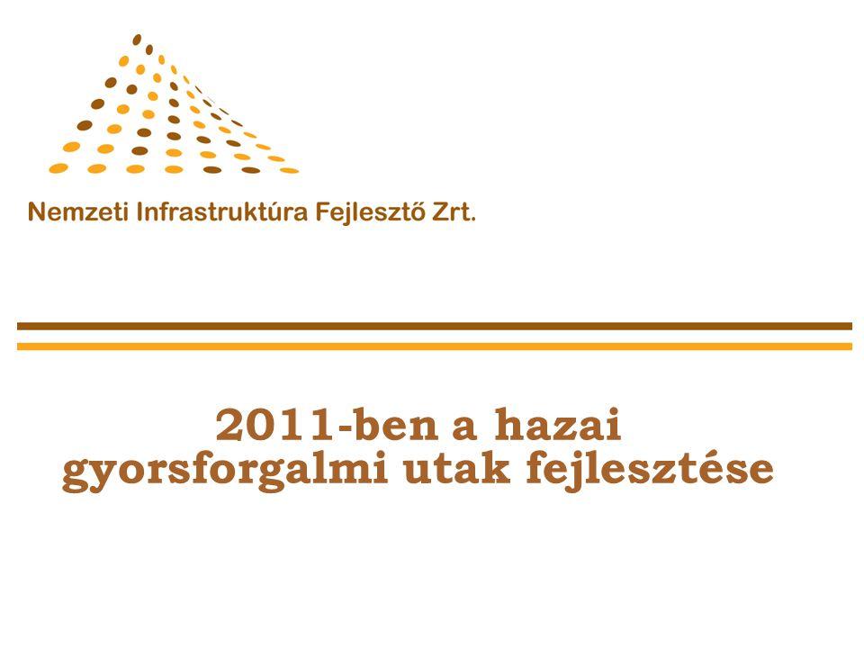 2011-ben a hazai gyorsforgalmi utak fejlesztése