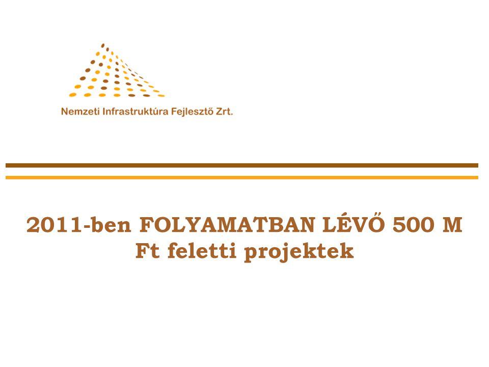 2011-ben FOLYAMATBAN LÉVŐ 500 M Ft feletti projektek