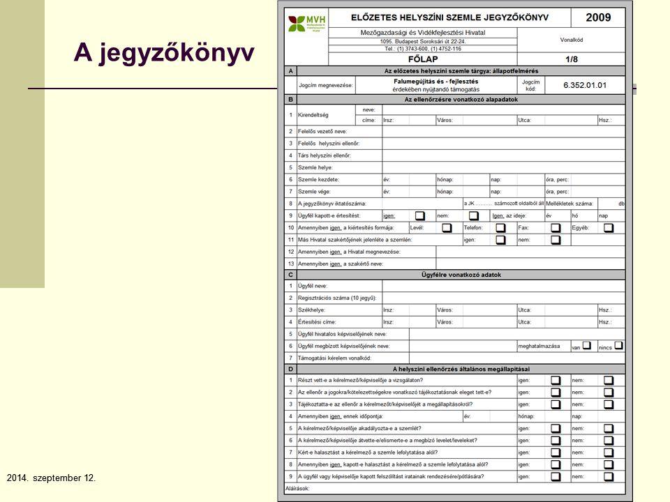 2014. szeptember 12.7 7 A jegyzőkönyv