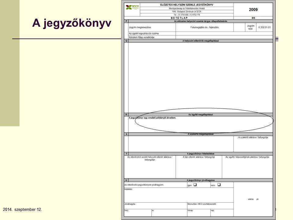 2014. szeptember 12.8 8 A jegyzőkönyv