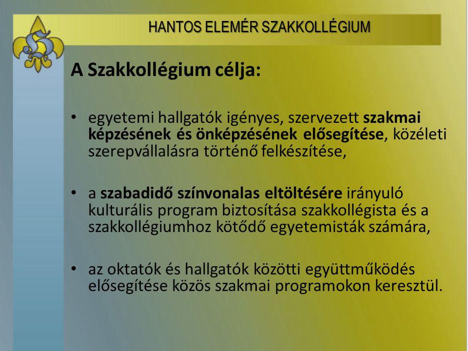 A Szakkollégium tevékenysége: szakmai előadások, tréningek, kiegészítő szakmai programok, nyelvtanfolyamok, tanulmányi kirándulások.