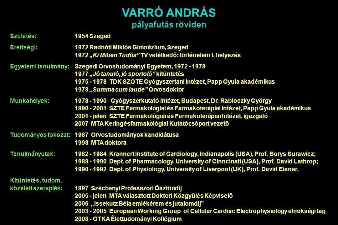 """Születés: 1954 Szeged Érettségi:1972 Radnóti Miklós Gimnázium, Szeged 1972 """"Ki Miben Tudós TV vetélkedő: történelem I."""