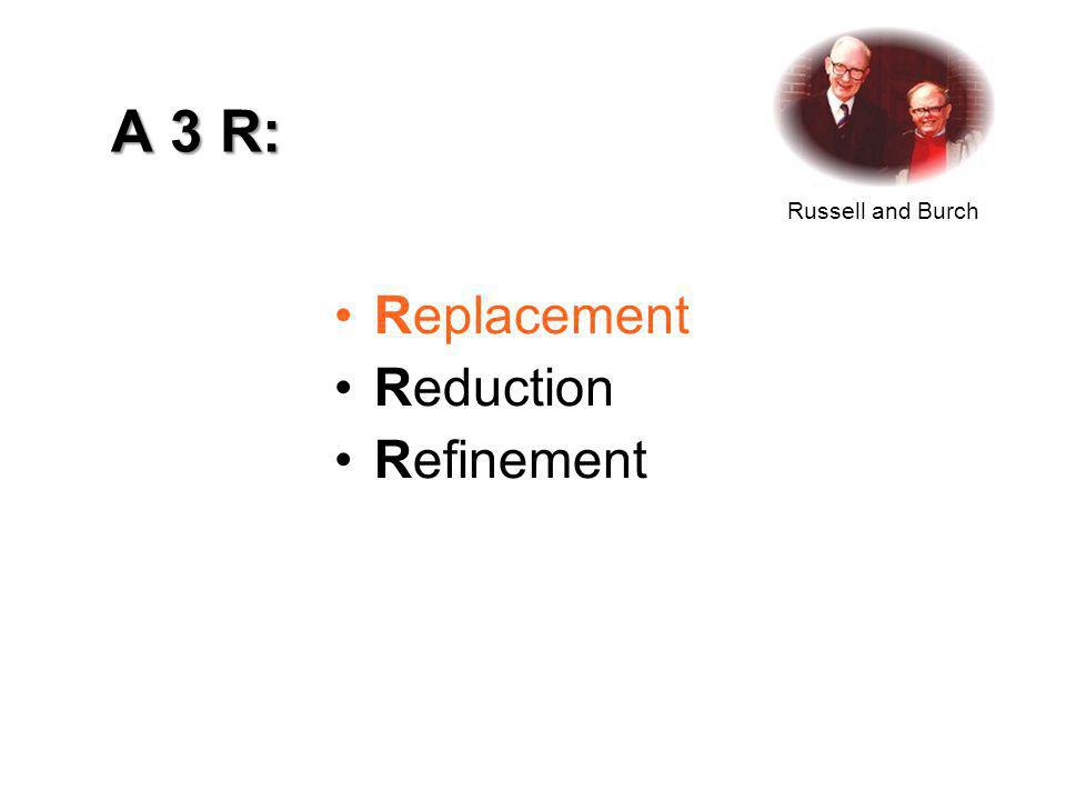 A 3 R: Replacement Reduction Refinement Russell and Burch