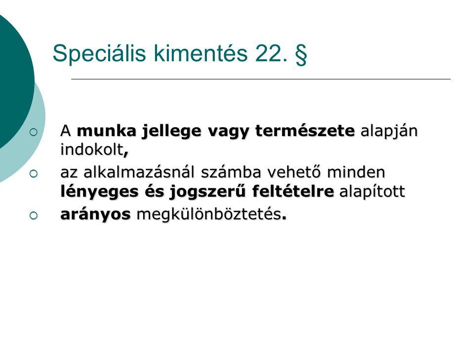Speciális kimentés 22.