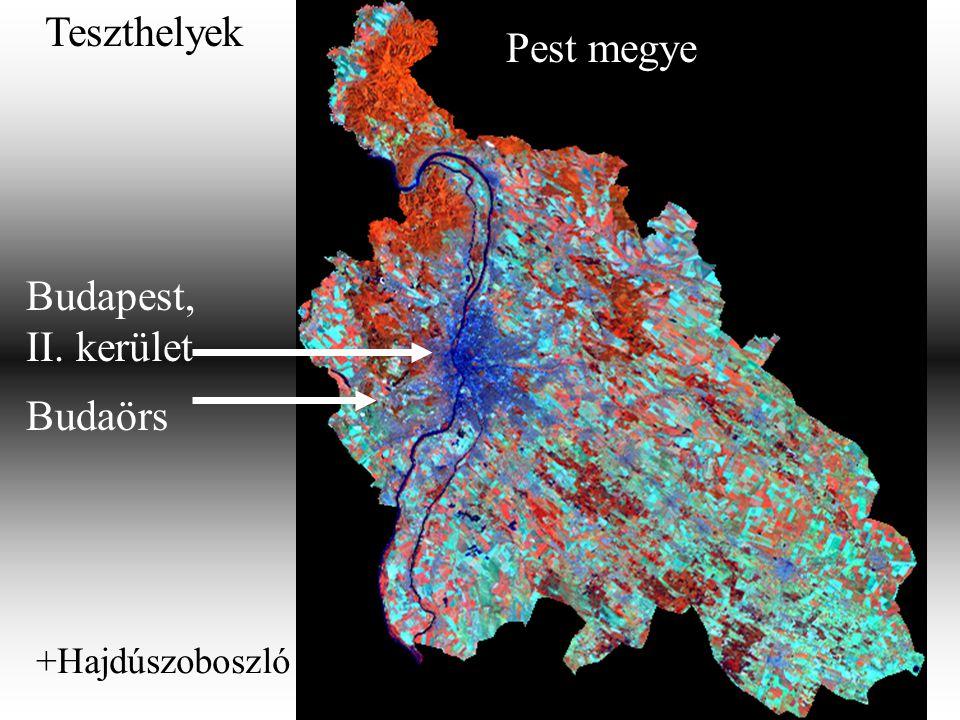 Pest megye Budapest, II. kerület Budaörs Teszthelyek +Hajdúszoboszló