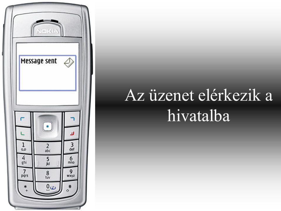Az ügyfél egy WAP- linket kap, ami az elérhető szolgáltatások körét tartalmazza.
