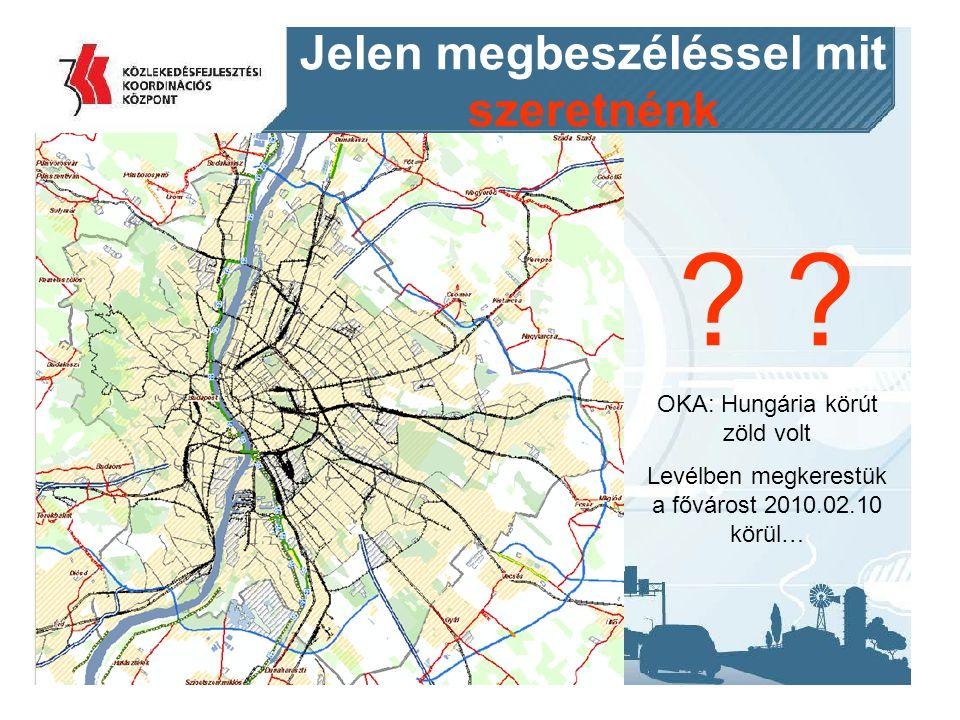 2014. 09. 11.17 Jelen megbeszéléssel mit szeretnénk ? OKA: Hungária körút zöld volt Levélben megkerestük a fővárost 2010.02.10 körül…