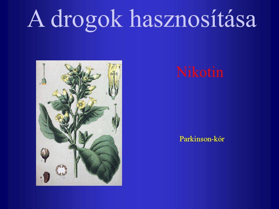 Nikotin Parkinson-kór A drogok hasznosítása