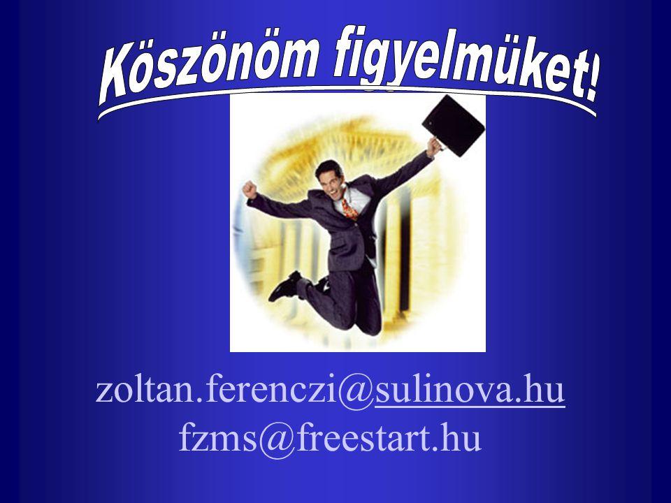 zoltan.ferenczi@sulinova.hu fzms@freestart.husulinova.hu