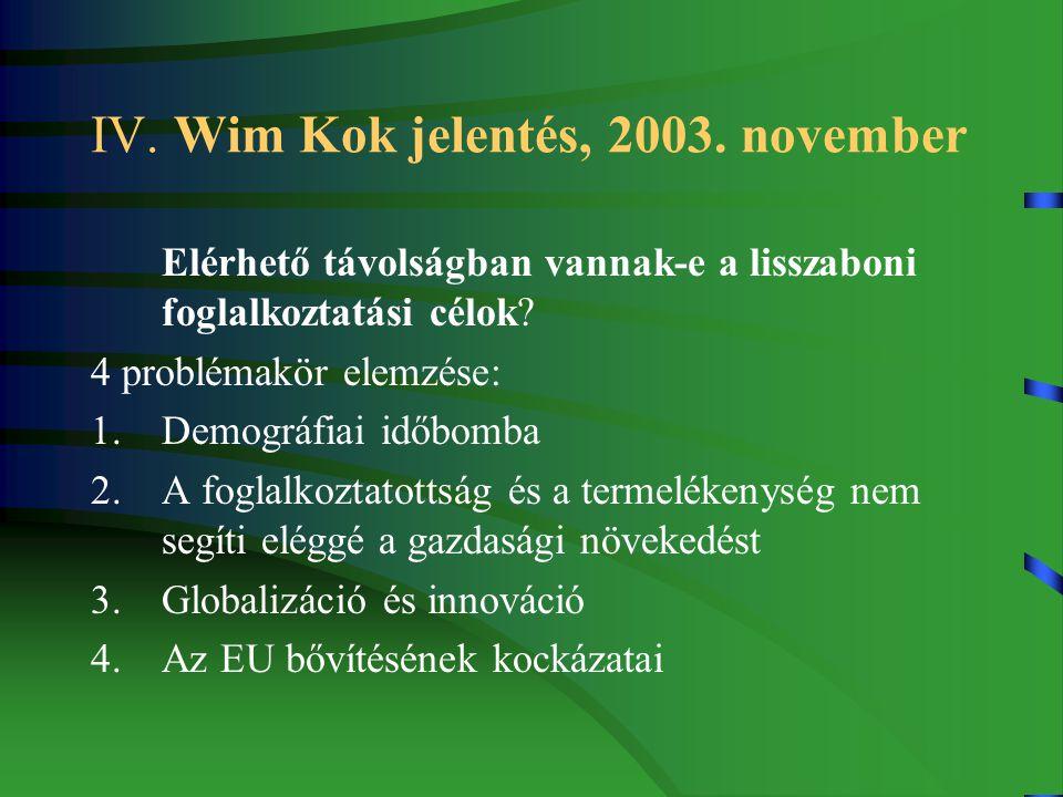 IV. Wim Kok jelentés, 2003.