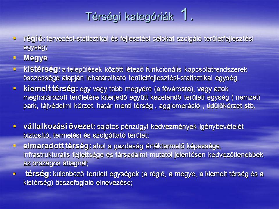 A területfejlesztés szervezeti egységei 2.