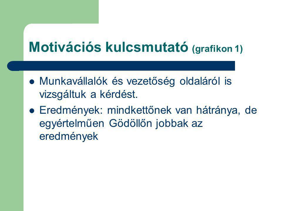 Motivációs kulcsmutató (grafikon 1) Munkavállalók és vezetőség oldaláról is vizsgáltuk a kérdést.