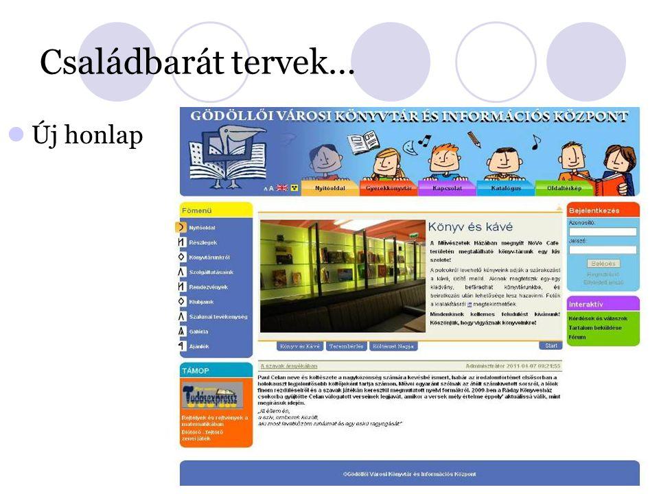 Családbarát tervek… Új honlap