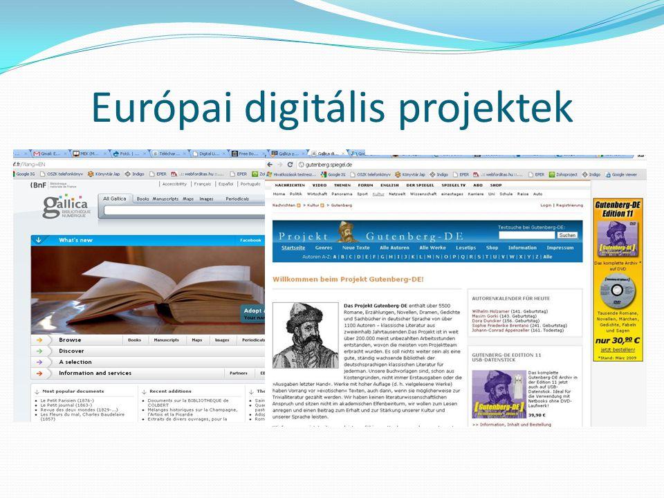 Európai digitális projektek