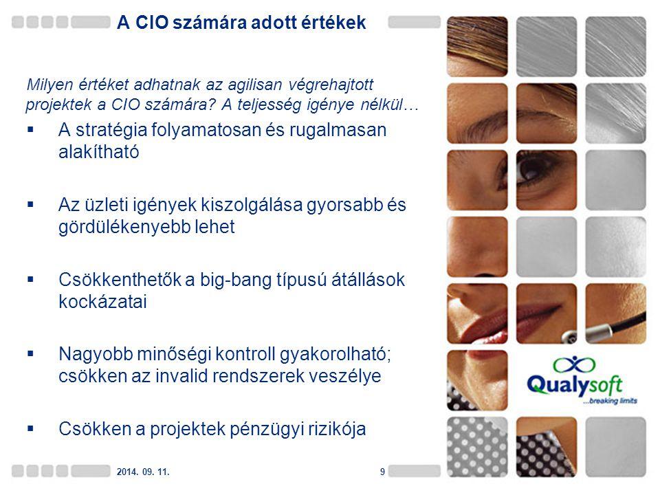 10 Köszönöm figyelmüket.Szász Gergely Senior projektvezető Qualysoft Informatikai Zrt.