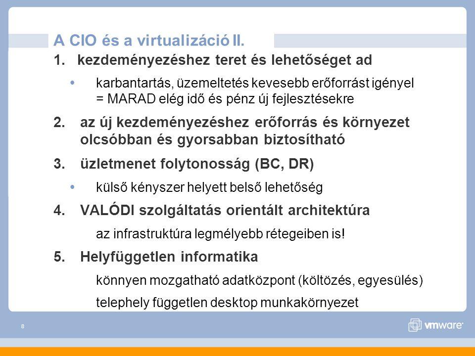 9 A CIO és a virtualizáció III.