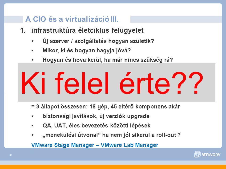10 Mit nem old meg a virtualizáció.