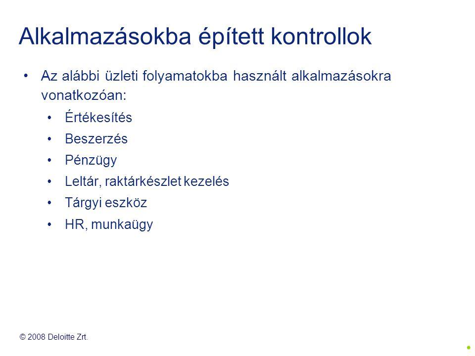 © 2008 Deloitte Zrt.