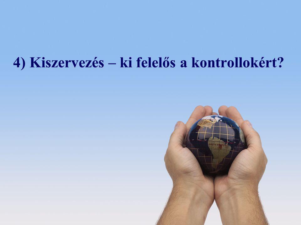 © 2008 Deloitte Zrt. 4) Kiszervezés – ki felelős a kontrollokért?