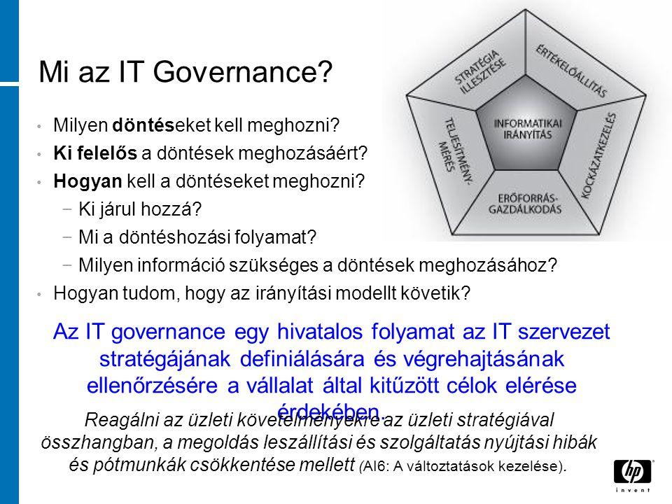 Mi az IT Governance. Milyen döntéseket kell meghozni.
