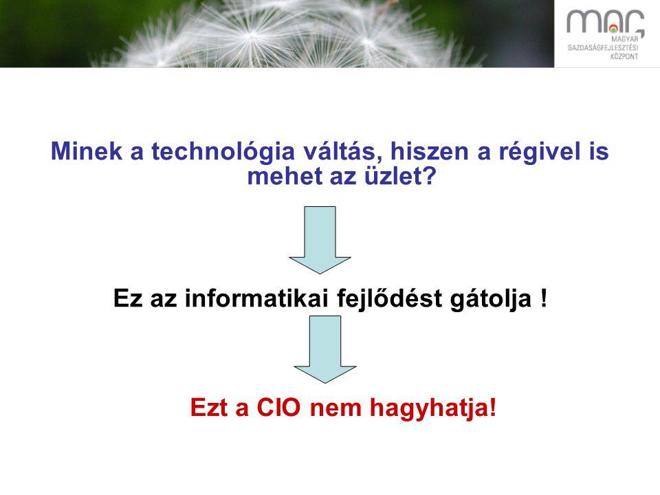 Mit tehet ez ellen a CIO? Talán van más út is!