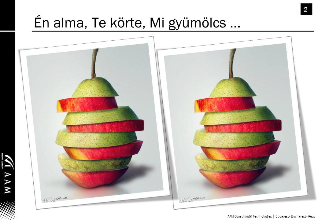 AAM Consulting & Technologies │ Budapest ▪ Bucharest ▪ Pécs 2 Én alma, Te körte, Mi gyümölcs …