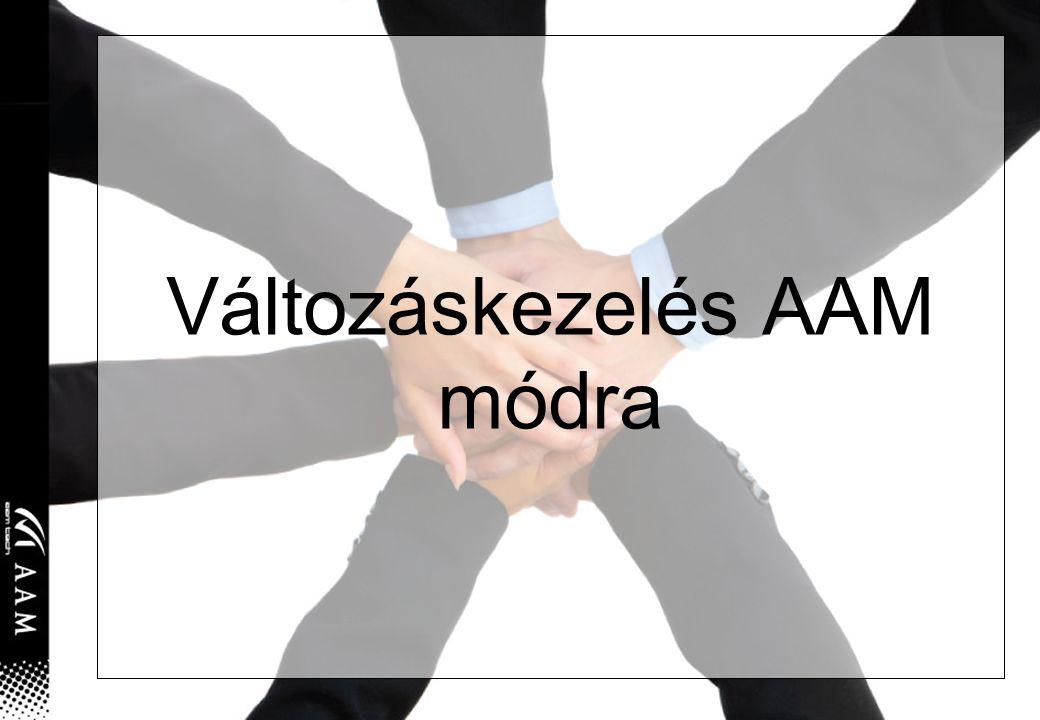 AAM Consulting & Technologies │ Budapest ▪ Bucharest ▪ Pécs 8 Változáskezelés AAM módra